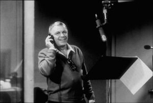 """Frank Sinatra at the Reprise recording session of """"L.A. Is My Lady"""" / A&R Studios, New York / 1984 © 1984 Ed Thrasher - Image 0337_2028"""