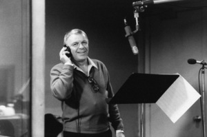 """Frank Sinatra at the Reprise recording session of """"L.A. Is My Lady"""" at A&R Studios, New York 1984 © 1984 Ed Thrasher - Image 0337_2028"""