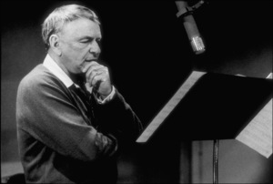 """Frank Sinatra at the Reprise recording session of """"L.A. Is My Lady"""" / A&R Studios, New York / 1984 © 1984 Ed Thrasher - Image 0337_2029"""