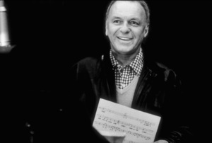 """Frank Sinatra at the Reprise recording session of """"Trilogy"""" / 1979 © 1979 Ed Thrasher - Image 0337_2041"""