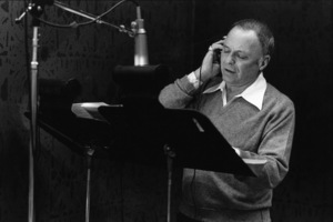 """Frank Sinatra at the Reprise recording session of """"Trilogy""""1979© 1979 Ed Thrasher - Image 0337_2049"""