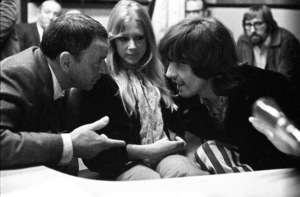 Frank Sinatra with George Harrison and Pattie Boyd at a Reprise Recording session1968 © 1978 Ed Thrasher - Image 0337_2057