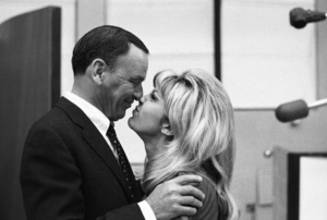 Frank Sinatra and daughter Nancy Sinatra at a Reprise recording session1967 © 1978 Ed Thrasher - Image 0337_2058