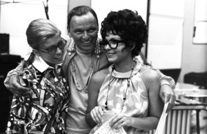 Frank Sinatra with daughters Nancy and Tina at a family recording session1968 © 1978 Ed Thrasher - Image 0337_2078