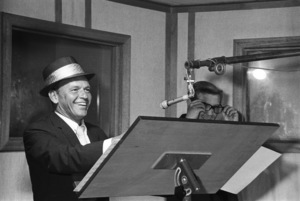 Frank Sinatra and Bill Miller at a recording session1964 © 1978 Ed Thrasher - Image 0337_2086