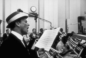 Frank Sinatra at a recording session / 1964 © 1978 Ed Thrasher - Image 0337_2095