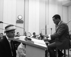 Frank Sinatra and Quincy Jones at a recording session1964 © 1978 Ed Thrasher - Image 0337_2096