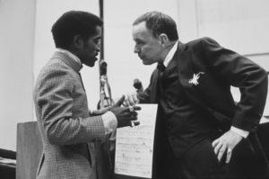 Sammy Davis Jr., Frank SinatraAt a recording session in L. A., Feb. 1969. © 1978 Ed Thrasher - Image 0337_2100