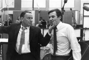 Frank Sinatra with Antonio Carlos Jobim during a 1967 recording session © 1978 Ed Thrasher - Image 0337_2106