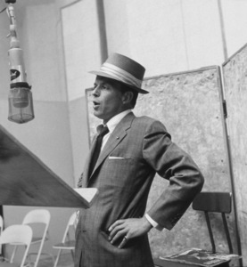 Frank Sinatra at a Capitol Records recording session, c. 1954 © 1978 Sid Avery - Image 0337_2119