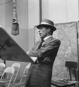 Frank Sinatra at a Capitol Records recording session, c. 1954 © 1978 Sid Avery - Image 0337_2120