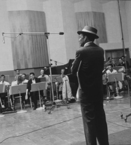 Frank Sinatra at a Capitol Records recording session, c. 1954 © 1978 Sid Avery - Image 0337_2122