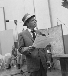 Frank Sinatra at a Capitol Records recording session, c. 1954 © 1978 Sid Avery - Image 0337_2123