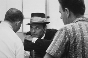Frank Sinatra and arranger Nelson Riddle at a Capitol Records recording session, c. 1954 © 1978 Sid Avery - Image 0337_2132