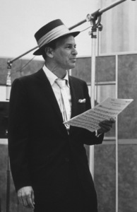 Frank Sinatra at a Capitol Records recording session, c. 1954 © 1978 Sid Avery - Image 0337_2135