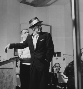 Frank Sinatra at a Capitol Records recording session, c. 1954 © 1978 Sid Avery - Image 0337_2138