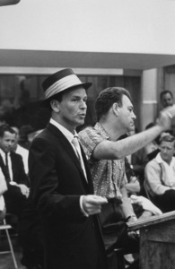 Frank Sinatra with arranger Nelson Riddle at a Capitol Records recording session, c. 1954 © 1978 Sid Avery - Image 0337_2140