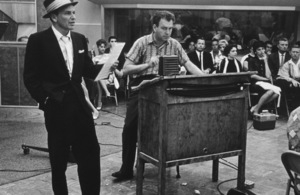 Frank Sinatra with arranger Nelson Riddle at a Capitol Records recording session, c. 1954 © 1978 Sid Avery - Image 0337_2144