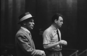 Frank Sinatra with arranger Nelson Riddle at a Capitol Records recording session, c. 1954 © 1978 Sid Avery - Image 0337_2148