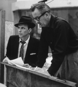 Frank Sinatra with arranger Gordon Jenkins at a Capitol Records recording session, c. 1957 © 1978 Sid Avery - Image 0337_2156