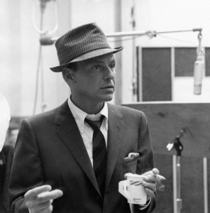 """Frank Sinatra at a Capitol Records recording session for """"Come Dance With Me""""circa 1959  © 1978 Sid Avery - Image 0337_2167"""