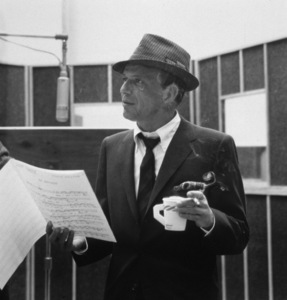 "Frank Sinatra at a Capitol Records recording session, c. 1959 for ""Come Dance with Me"" © 1978 Sid Avery - Image 0337_2169"