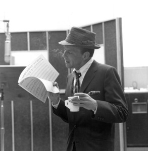 """Frank Sinatra at a Capitol Records recording session, c. 1959 for """"Come Dance with Me"""" © 1978 Sid Avery - Image 0337_2170"""