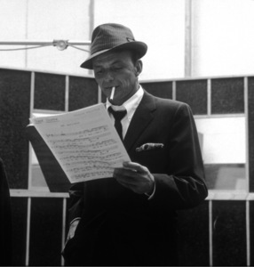 """Frank Sinatra at a Capitol Records recording session, c. 1959 for """"Come Dance with Me"""" © 1978 Sid Avery - Image 0337_2171"""