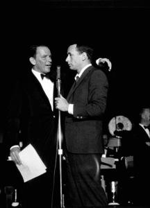 Frank Sinatra on stage with Joey Bishop, 1961. © 1978 Bernie Abramson - Image 0337_2184