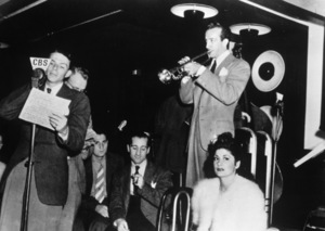 Frank Sinatra and Harry James at the Roseland Ballroom in New York CityJuly 1939 - Image 0337_2288