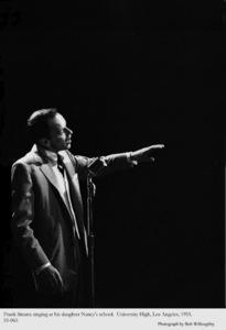 Frank Sinatra performing at Nancy Sinatra