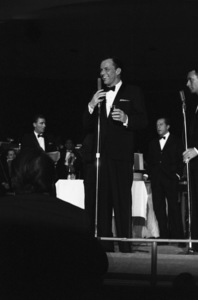 Frank Sinatra, Peter Lawford, Buddy Lester and Joey Bishop performing at the Sands Hotel in Las Vegas1960 © 1978 Bob Willoughby - Image 0337_2353