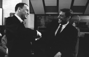 """Frank Sinatra and Don Hewitt at the """"September of My Years"""" recording session April 4, 1965 © 1978 Ed Thrasher - Image 0337_2377"""