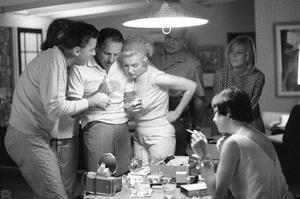 Frank Sinatra with Peter Lawford, Marilyn Monroe, and May Britt in Santa Monica, California circa 1960 © 1978 Bernie Abramson  - Image 0337_2394
