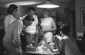 Frank Sinatra with Peter Lawford, Pat Lawford, Marilyn Monroe and May Britt in Santa Monica, California circa 1960 © 1978 Bernie Abramson - Image 0337_2396