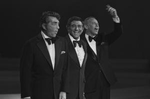 Dean Martin, Robert Merrill and Frank Sinatra filming a television special at NBC circa 1975 © 1978 Clayton Bud Gray - Image 0337_2398