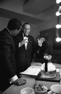 Frank Sinatra in his dressing room with Quincy Jones at The Sands hotel in Las Vegas, Nevada1964 © 1978 David Sutton - Image 0337_2407