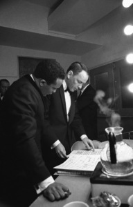 Frank Sinatra in his dressing room with Quincy Jones at The Sands hotel in Las Vegas, Nevada1964 © 1978 David Sutton - Image 0337_2408