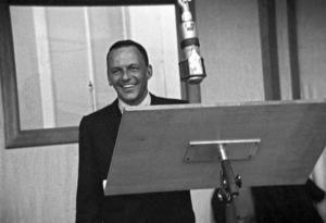 Frank Sinatra at a recording session circa 1967 © 1978 Ted Allan