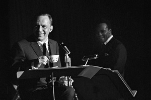 Frank Sinatra and Quincy Jones circa 1964 © 1978 Ted Allan