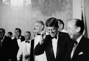 """Democratic National Convention""Milton Berle, George E. Jessel, Frank Sinatra, John F. Kennedy1960 / Los Angeles, CA © 1978 Bernie Abramson - Image 0337_2441"