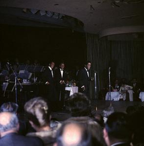 Frank Sinatra, Dean Martin and Sammy Davis Jr. performingcirca 1960 © 1978 Ted Allan - Image 0337_2445