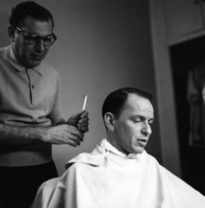Frank Sinatra gettting a haircutcirca 1960 © 1978 Bernie Abramson - Image 0337_2481