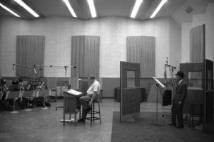 Frank Sinatra in the recording studio with Billy Maycirca 1959** I.V. - Image 0337_2504