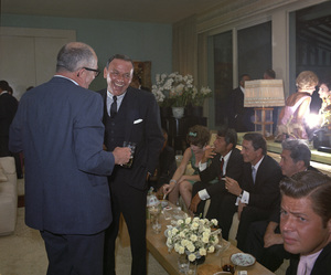 Frank Sinatra at his wedding to Mia Farrow (Dean Martin and Richard Conte in background)1966 © 1978 Ted Allan - Image 0337_2526