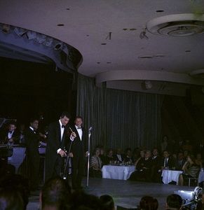 Frank Sinatra, Dean Martin and Sammy Davis Jr. performingcirca 1960 © 1978 Ted Allan - Image 0337_2578