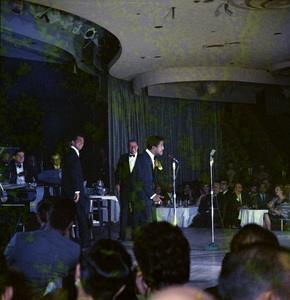 Frank Sinatra, Dean Martin and Sammy Davis Jr. performingcirca 1960 © 1978 Ted Allan - Image 0337_2584
