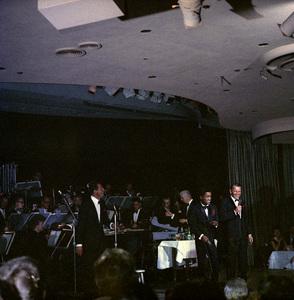 Frank Sinatra, Dean Martin and Sammy Davis Jr. performingcirca 1960 © 1978 Ted Allan - Image 0337_2589