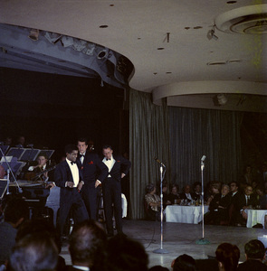 Frank Sinatra, Dean Martin and Sammy Davis Jr. performingcirca 1960 © 1978 Ted Allan - Image 0337_2590