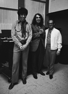 Tiny Tim with Richard Perry and Mo Ostin during a Frank Sinatra recording session1968 © 1978 Ed Thrasher - Image 0337_2647